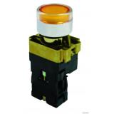Кнопка BW3561 с подсветкой желтый 1з TDM