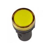 Лампа AD-22DS (LED) матрица d22 мм желтый 230В TDM