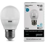 Лампа Gauss LED Elementary Globe 8 W E27 4100K