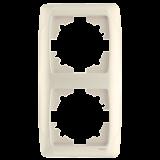 ViKO CARM. Рамка х2 вертик. (белый)