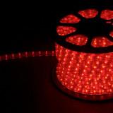 Дюралайт (световая нить) со светодиодами, 3W 50м 230V 72LED/м 11х17мм (красный-желтый) LED-F3W