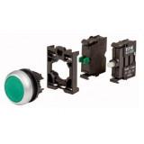 Переключатель 3-позиц. зеленый с подсветкой, 1НО, 230В DC M22-WRLK3-G-2K10LED230-BVP