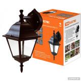 Светильник садово-парковый 4060-12-Х2 (силумин) бронза четырехгранник TDM