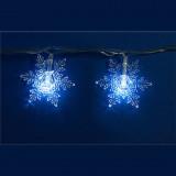 Гирлянда LED Uniel «Снежинки» с контроллером, 2,8м. 20 св. белый