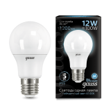Лампа Gauss Black LED Elementary A60 12W E27 4100K Globe