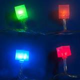 Гирлянда LED Uniel «Кубики» с контроллером,7 м. 50 св. цветная