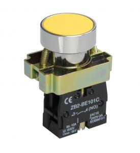 Кнопка BА51 без подсветки желтый 1з TDM