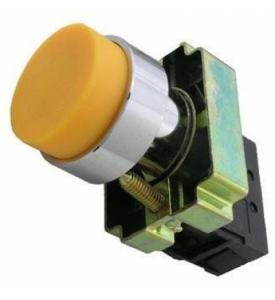 Кнопка BL51 без подсветки желтый 1з TDM