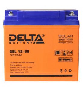 Аккумуляторная батарея DELTA  GEL 12-55 (12В 55Ah)