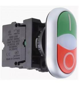 Двойная кнопка без фиксации, 1НО, 1Н3 M22-DDL-GR-X1\X0-K1001-BVP