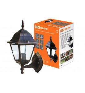 Светильник садово-парковый 4060-11-Х1 (силумин) бронза четырехгранник TDM