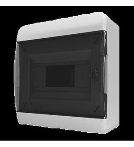 tekfor пластиковый РЩ BNK 40-08-1 прозрачная чёрная дверца