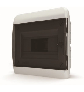 tekfor пластиковый РЩ BVK 40-08-1 прозрачная чёрная дверца