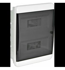 tekfor пластиковый РЩ BVK 40-24-1 прозрачная чёрная дверца