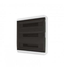 tekfor пластиковый РЩ BNK 40-54-1 прозрачная чёрная дверца