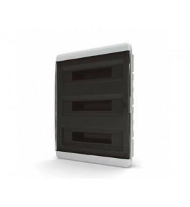tekfor пластиковый РЩ BVK 40-54-1 прозрачная чёрная дверца