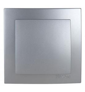 Nilson Touran Выключатель 1-кл с рамкой (серебро)