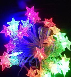 Гирлянда _WLZ _F6 _фигурная (звёзды) _4м, 20 ламп