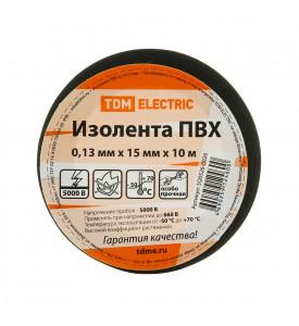 Изолента ПВХ 0,13*15мм Черная 10м TDM