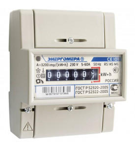 Электросчетчик 1 фазный СЕ101 R5 145 M6 5-60А ( на Дин-рейку )