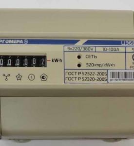 Электросчетчик 3 фазный ЦЭ 6803В М7 Р31 ( на Дин-рейку ) 10-100А
