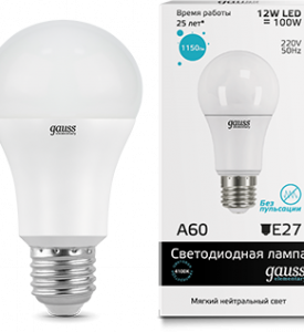 Лампа Gauss LED Elementary A60 12W E27 4100K Globe