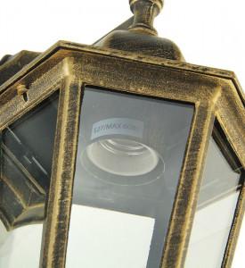 Светильник садово-парковый 6060-12-Х2 (силумин) бронза в низ. шестигранник TDM
